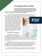 Sterilizarea laptelui in flux continuu