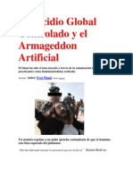 Genocidio Global Controlado y el Armageddon Artificial-por Ever Pisani