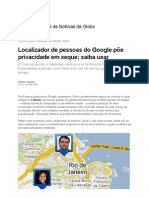 Privacidade e Google Latitude