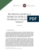 DA PRÁTICA MUSICAL À TEORIA DA MÚSICA