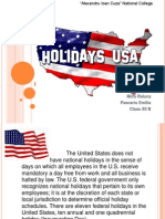 Holidays in USA