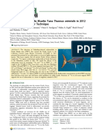 Radiocesium in Pacific Bluefin Tuna Thunnus orientalis in 2012