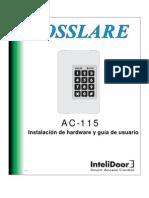 Rosslare AC-115 Manual (Espanol)