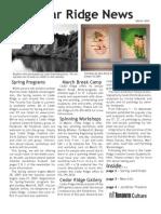 Cedar Ridge Creative Centre News - Winter 2009