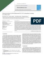 Characterisation of Electrodeposited Co W P Amorphous Coati