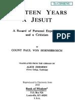 Fourteen Years a Jesuit Volume 2 by Count Paul Von Hoensbroech