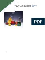 Ejercicios Unidad II Quimica Inorganica