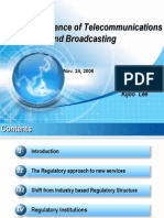 The Convergence of Telecommunications and Broadcasting (Fall' 06)