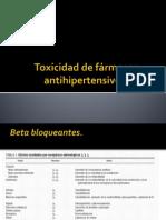Toxicidad de fármacos antihipertensivos