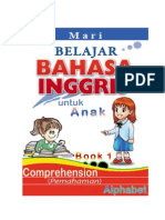 Belajar Bahasa Inggris, Comprehension, ALPHABET, Book 1 dan Kunci Jawaban-KEY
