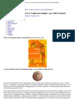 _La pensée d'Henry Corbin et le Temple maçonnique_, par Gilbert Durand - Institut Pythagore