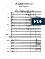 Peer Gynt Suite No. 1 1. Morning Mood (Full Score) - Orchestra