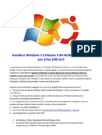 Installare Windows 7 e Ubuntu 9.04