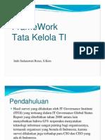 3. Framework Tatakelola TI
