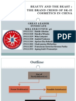 The brand crisis of SK II in China