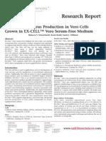 SAFC Biosciences Research Report - Evaluation of Virus Production in Vero Cells Grown in EX-CELL™ Vero Serum-Free Medium