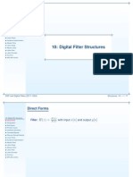 Digital Filter Structures