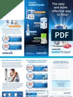 Water Flosser Patient Education Brochure