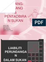 Liabiliti dan Perundangan dalam Sukan