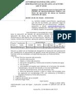 Autorizacion Para La Ejecucion de Estudio de Aprovechamiento Hidrico 1