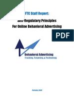 """Staff Report on Behavioral Advertising"""