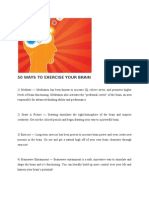 50 Ways to Exercise Your Brain