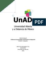 Cálculo integral. Desarrollo de integración (área)