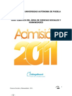 Buap 2011 Sociales y Humanidades