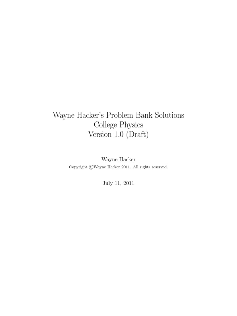 Problem Bank Make File Physics121 Solns | Vector Space | Quadratic