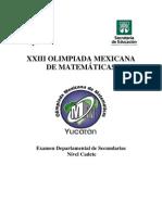Departamental Secundarias Cadete XXIII