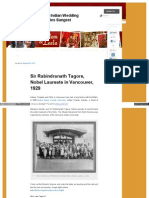 Rabindranath Tagore, Nobel Laureate in Vancouver, 1929