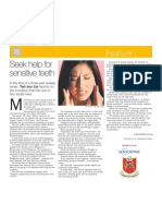 Seek Help for Sensitive Teeth article