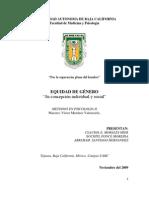 Reporte Academico Investigacion Equidad de Genero