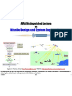 AIAA Distinguished Lecture - Missile Design and System Engineering (24 Slides)