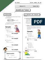 Ecuación de 2do Grado.doc