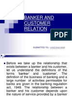 Banker and Customer Relation