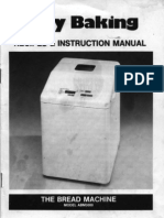 Welbilt ABM3000 Breadmaker Manual