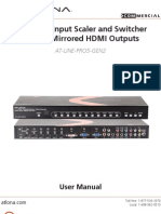 Atlona AT-LINE-PRO5-GEN2 11 Input Scaler and Swithcer With Dual Mirrored HDMI Outputs - Manual