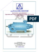 O&M Manual for Vms Pump