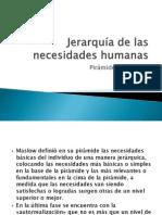 Jerarquía de las necesidades humanas