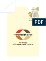 FuE Texturising of Ferm Milk Products