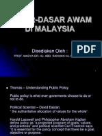 Dasar-dasar Awam Di Malaysia