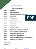 008AB. AKHLAQ SYLLABUS – CLASS 8