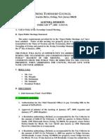 02-09-09 Council Agenda Session Minutes