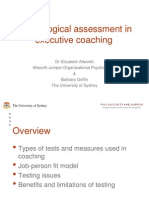 Psychological Assessment in Executive Coaching