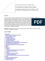 Applications of Item Response Theory to Measurement Issues in Leadership Research