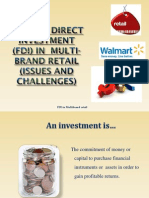 FDI in Multi-brand Retail (Issues and Challenges)