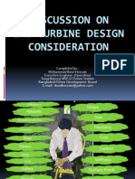 Design Consideration Of Gas Turbine