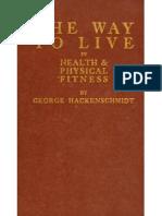 George Hackenschmidt - The Way to Live