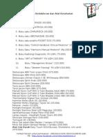 Daftar Buku Kedokteran Dan Alat Kesehatan (Ready)